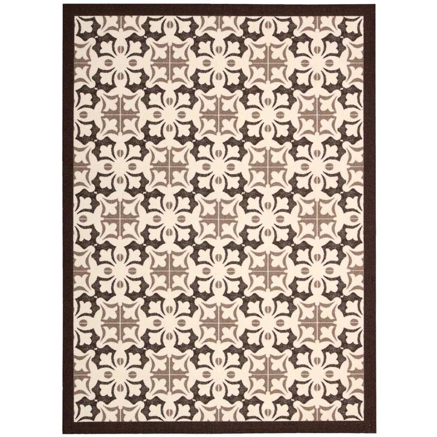 Nourison Enhance Brown Rectangular Indoor Area Rug (Common: 4 x 6; Actual: 4-ft W x 6-ft L x 0.25-ft dia)