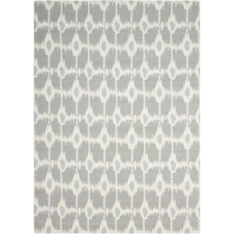 Nourison Enhance Grey Rectangular Indoor Area Rug (Common: 8 x 10; Actual: 8-ft W x 10-ft L x 0.25-ft dia)