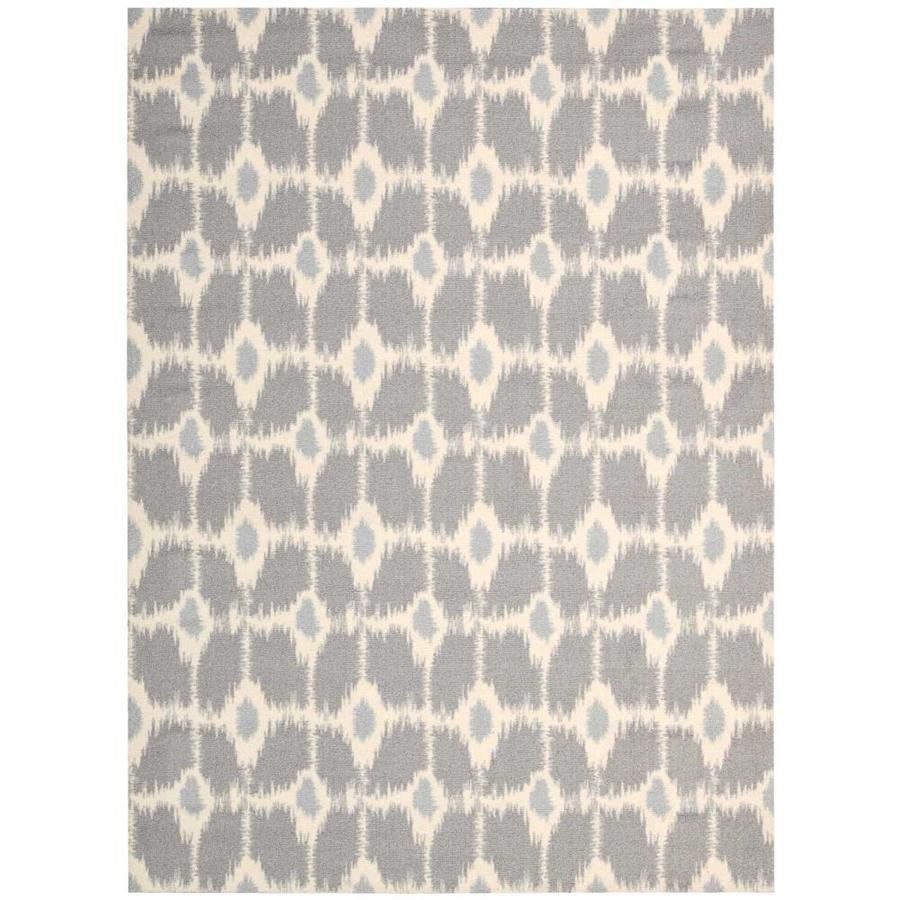 Nourison Enhance Grey Rectangular Indoor Area Rug (Common: 3 x 4; Actual: 2.5-ft W x 4-ft L x 0.25-ft dia)
