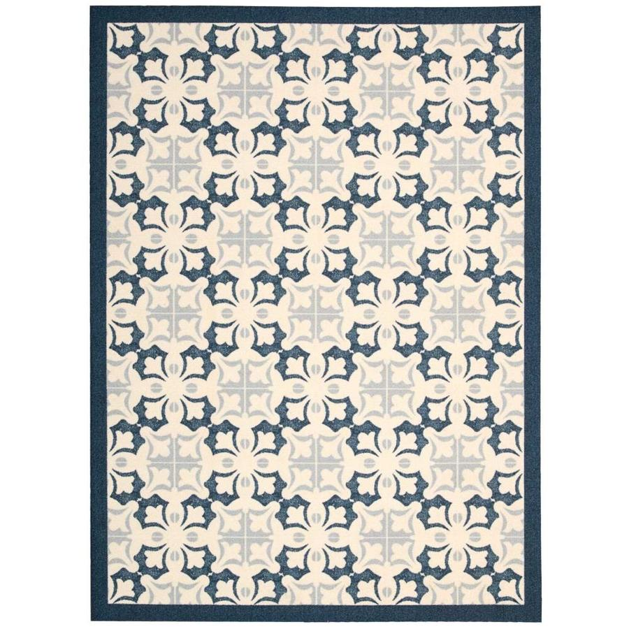 Nourison Enhance Blue Indoor Area Rug (Common: 5 x 8; Actual: 5-ft W x 7-ft L x 0.25-ft dia)