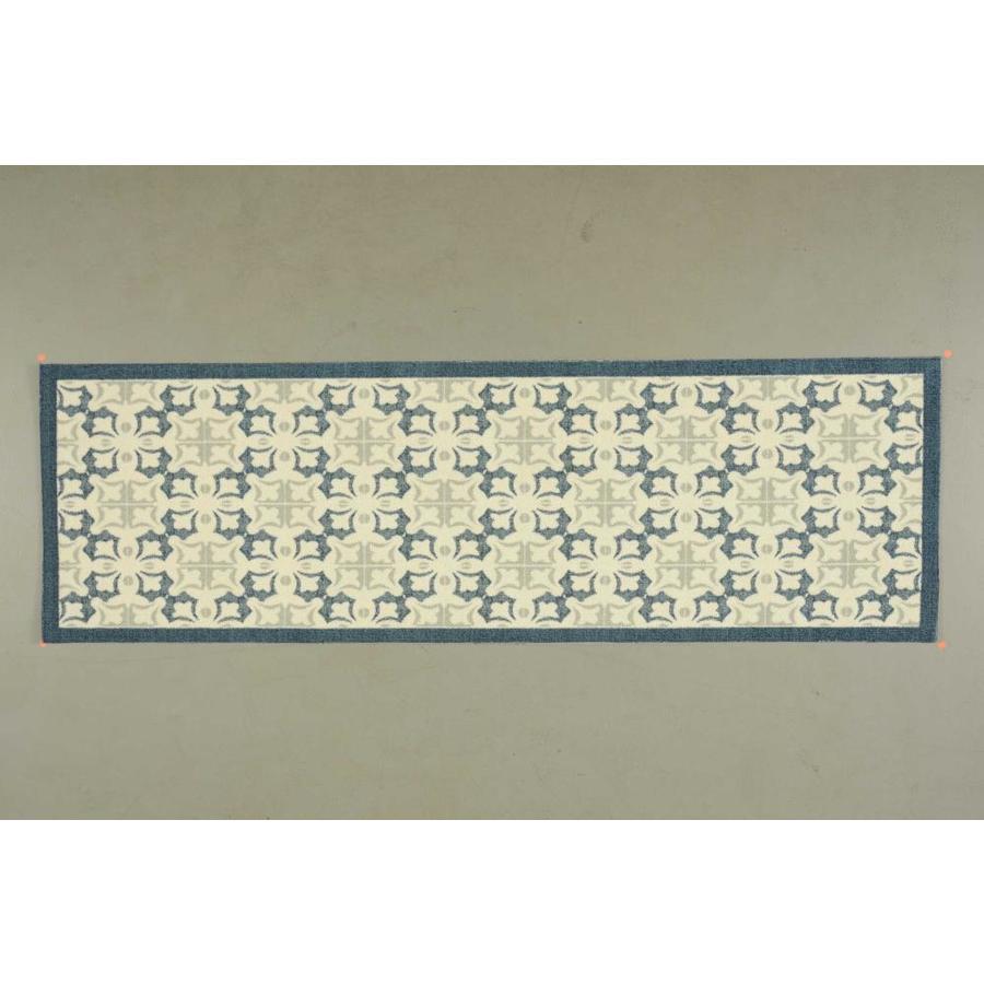 Nourison Enhance Blue Rectangular Indoor Area Rug (Common: 3 x 8; Actual: 2.5-ft W x 8-ft L x 0.25-ft dia)