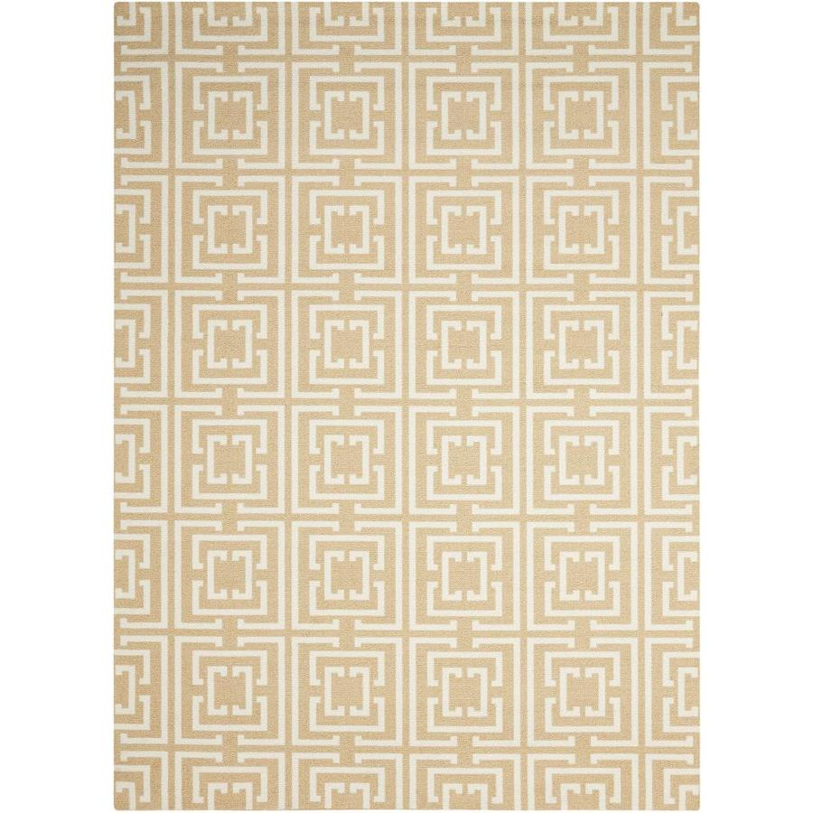 Nourison Enhance Tan Rectangular Indoor Area Rug (Common: 3 x 8; Actual: 2.5-ft W x 8-ft L x 0.25-ft dia)