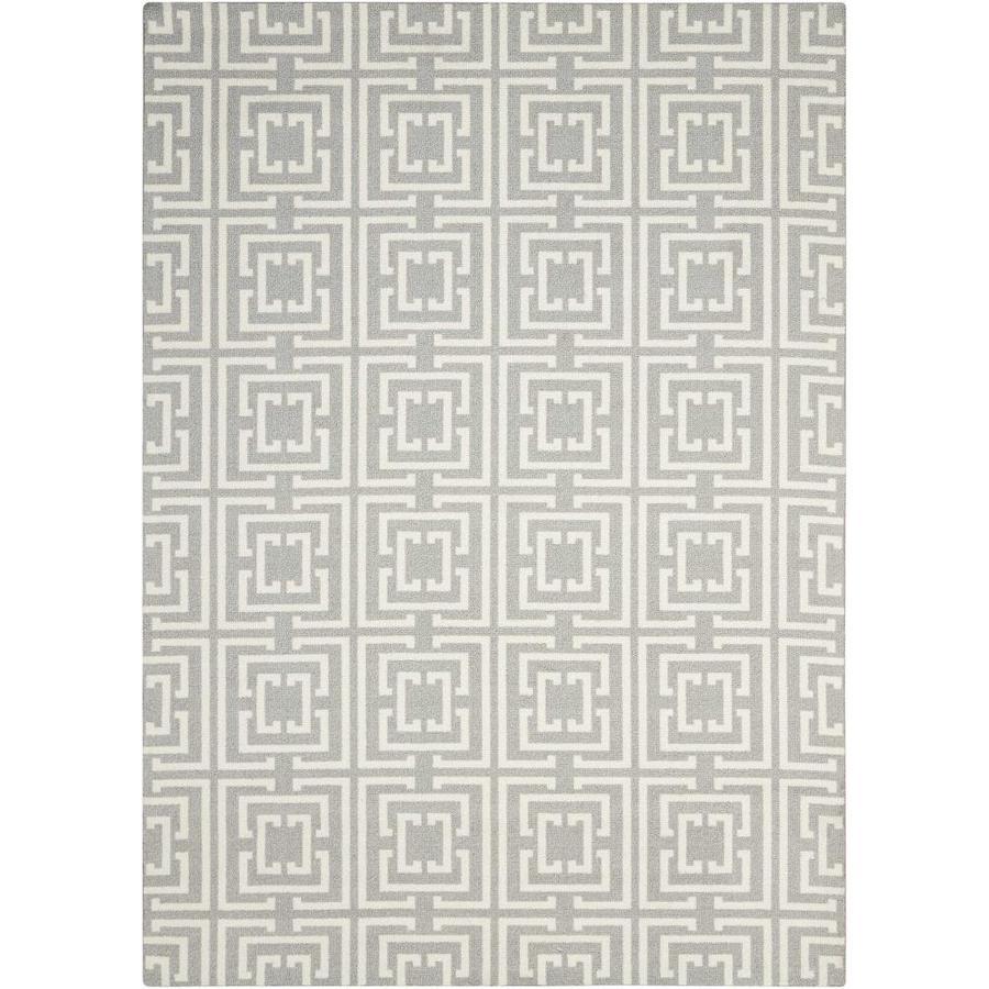 Nourison Enhance Grey/Beige Area Rug (Common: 5 x 8; Actual: 5-ft W x 7-ft L)