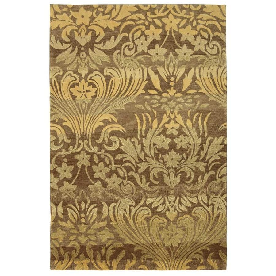 Nourison Contour Latte Indoor Handcrafted Area Rug (Common: 8 x 10; Actual: 8-ft W x 10.5-ft L x 0.5-ft dia)