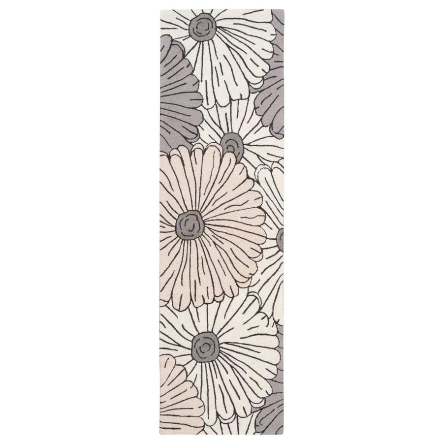 Nourison Fantasy Ivory Indoor Handcrafted Area Rug (Common: 2 x 7; Actual: 2.25-ft W x 8-ft L)