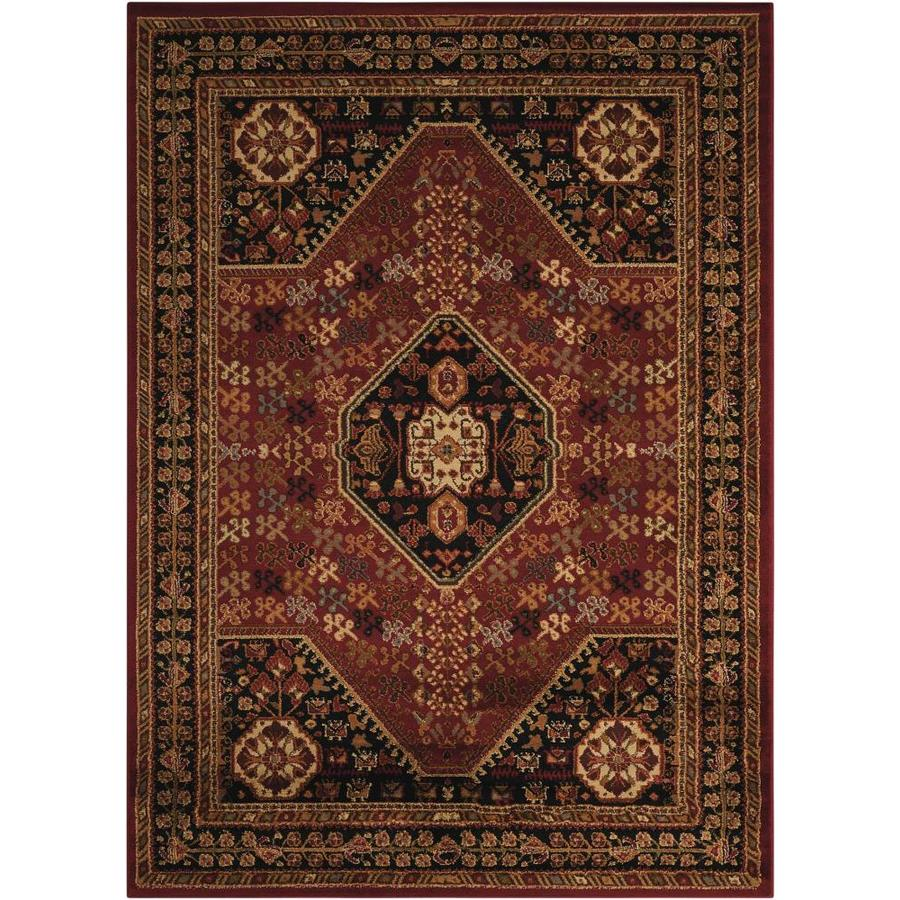 Nourison Paramount Red Indoor Area Rug (Common: 3 x 5; Actual: 3.92-ft W x 5.83-ft L x 0.5-ft dia)