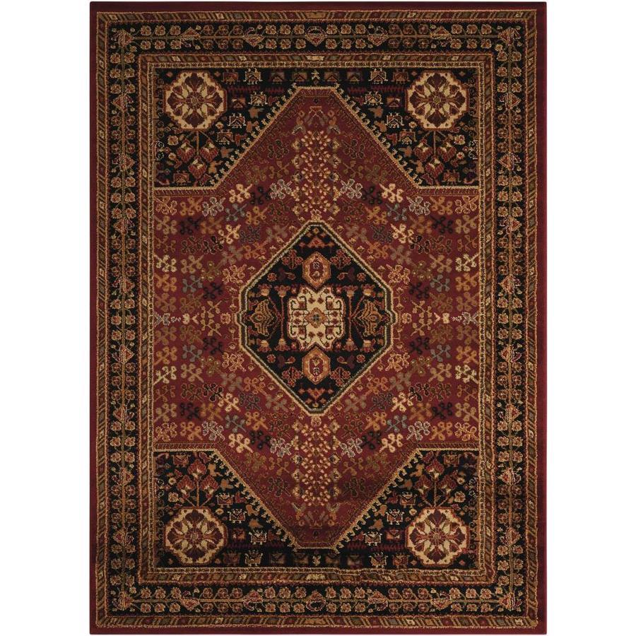 Nourison Paramount Red Rectangular Indoor Area Rug (Common: 8 x 10; Actual: 7.83-ft W x 10.5-ft L x 0.5-ft dia)