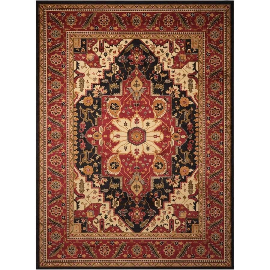 Nourison Paramount Black Rectangular Indoor Area Rug (Common: 8 x 10; Actual: 7.83-ft W x 10.5-ft L x 0.5-ft dia)
