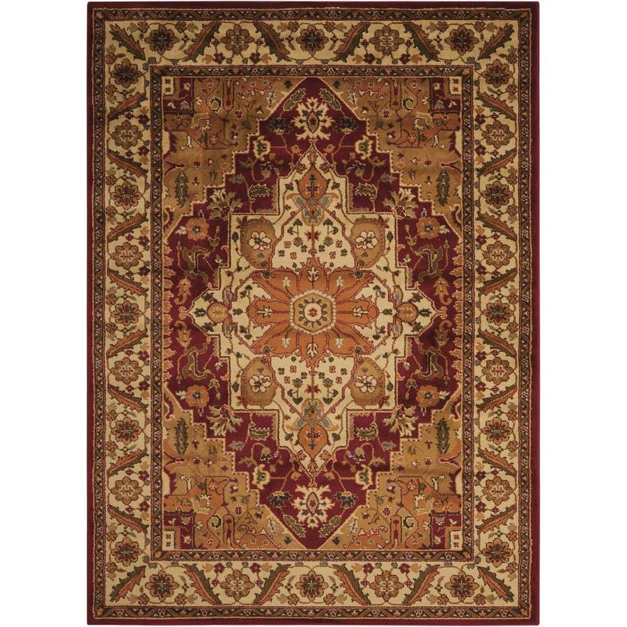 Nourison Paramount Yellow Rectangular Indoor Area Rug (Common: 8 x 10; Actual: 7.83-ft W x 10.5-ft L x 0.5-ft dia)