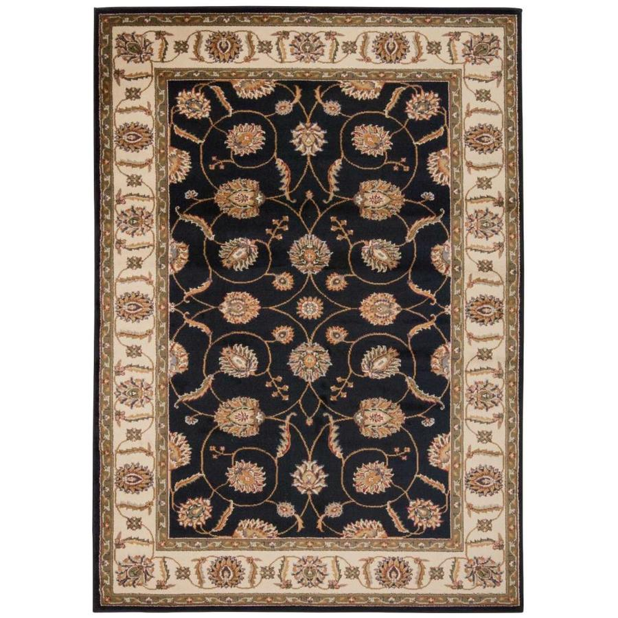 Nourison Paramount Black Rectangular Indoor Area Rug (Common: 8 x 10; Actual: 7.83-ft W x 10.5-ft L x 0.5-ft dia)