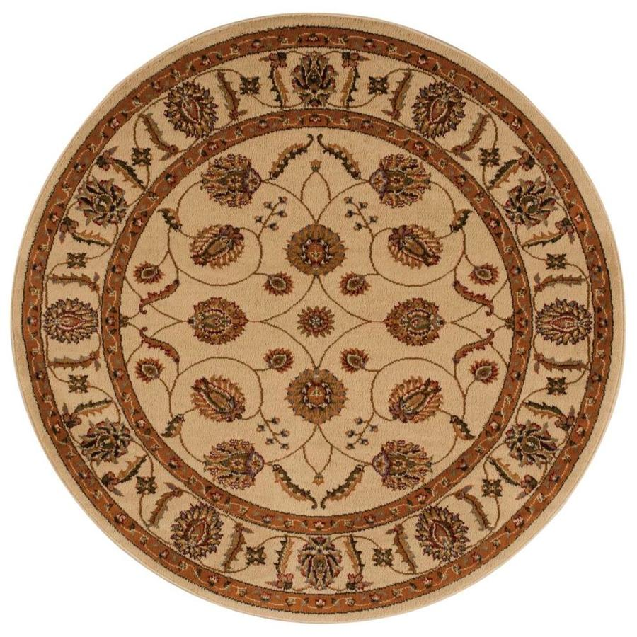 Nourison Paramount Beige Round Indoor Area Rug (Common: 5 x 5; Actual: 5-ft W x 5-ft L x 0.5-ft dia)