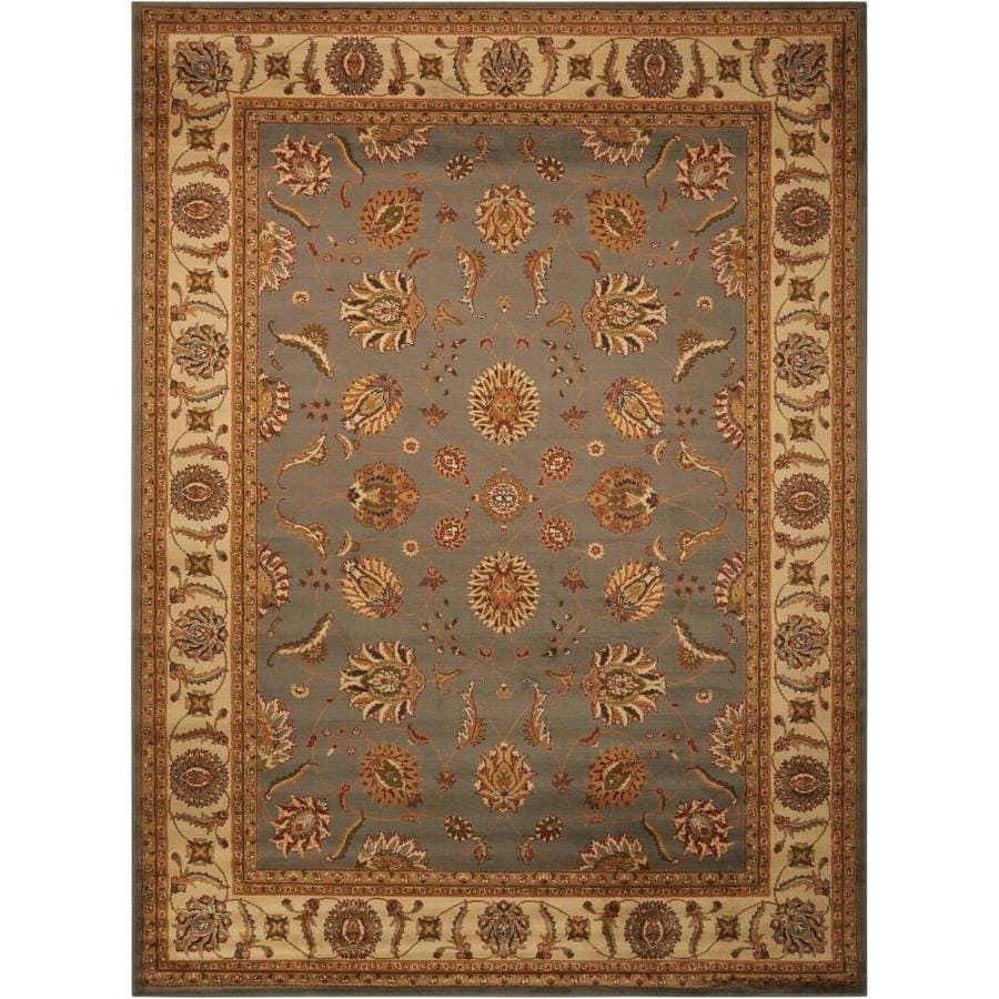 Nourison Paramount Blue Area Rug (Common: 5 x 7; Actual: 5.25-ft W x 7.25-ft L)