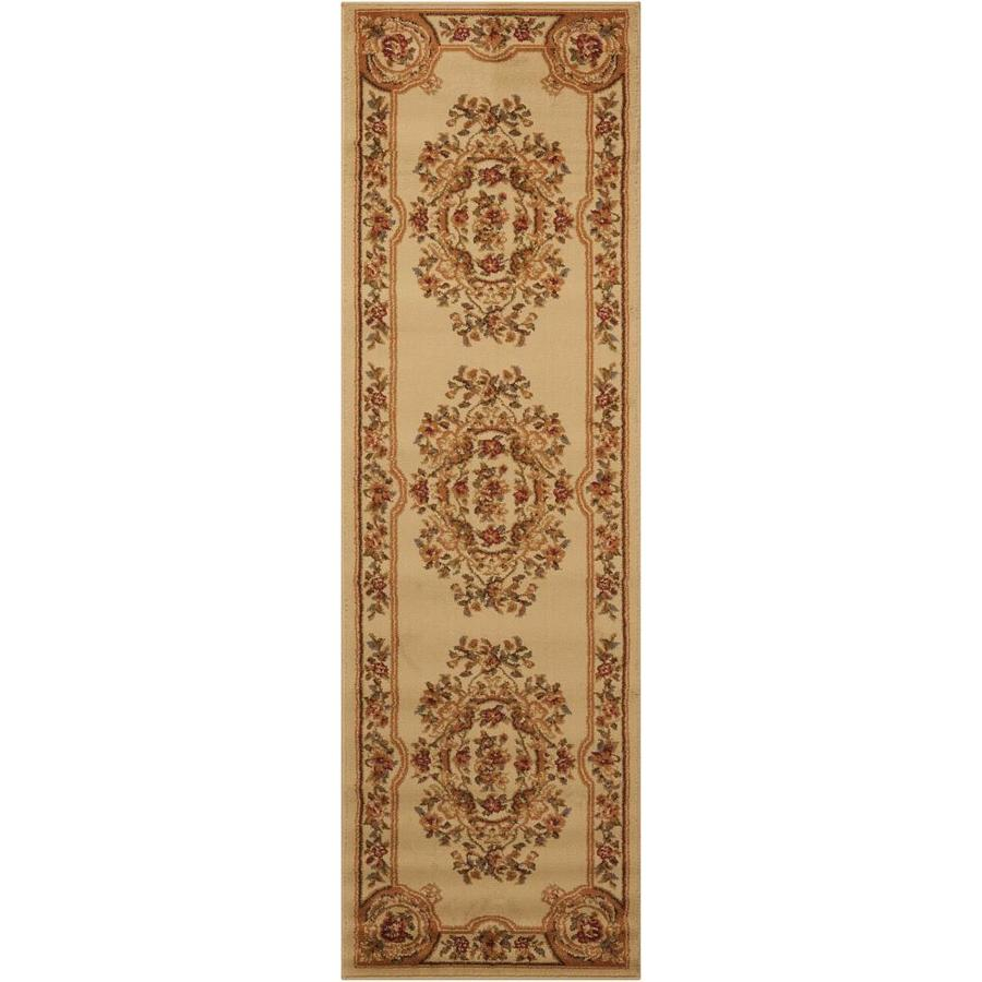 Nourison Paramount Beige Rectangular Indoor Area Rug (Common: 2 x 7; Actual: 2.17-ft W x 7.25-ft L x 0.5-ft dia)