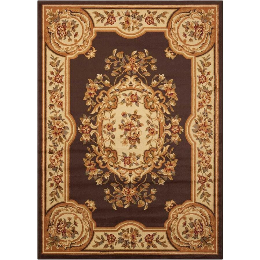 Nourison Paramount Chocolate Indoor Area Rug (Common: 5 x 7; Actual: 5.25-ft W x 7.25-ft L)