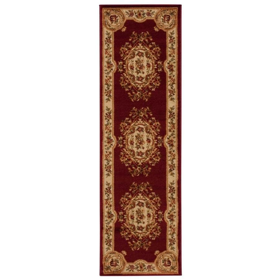 Nourison Paramount Red Indoor Area Rug (Common: 2 x 7; Actual: 2.17-ft W x 7.25-ft L x 0.5-ft dia)