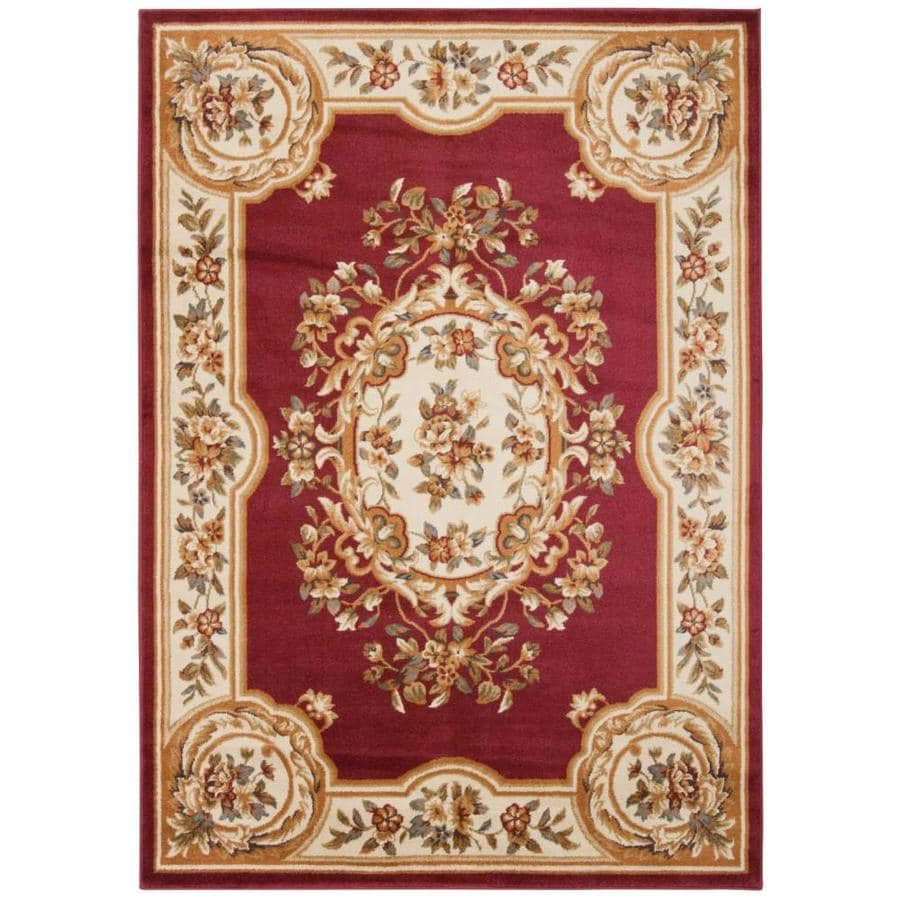 Nourison Paramount Red Rectangular Indoor Area Rug (Common: 5 x 7; Actual: 5.25-ft W x 7.25-ft L x 0.5-ft dia)