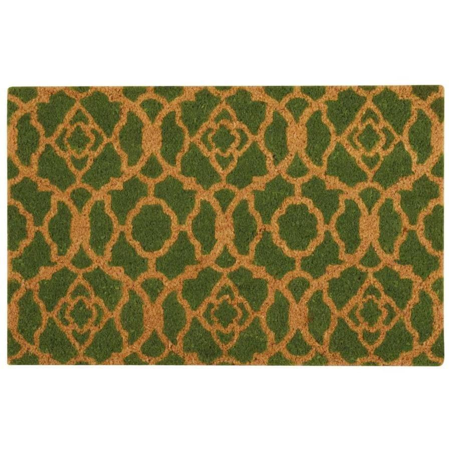 Nourison Green Rectangular Door Mat