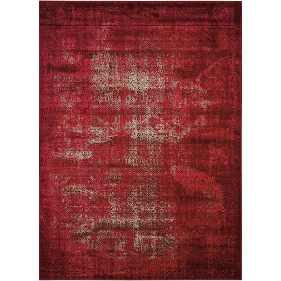 Nourison Karma Red Rectangular Indoor Area Rug (Common: 8 x 10; Actual: 7.83-ft W x 10.5-ft L x 0.25-ft dia)