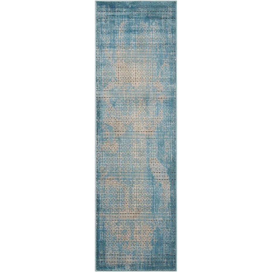 Nourison Karma Blue Indoor Area Rug (Common: 2 x 7; Actual: 2.1667-ft W x 7.5-ft L)