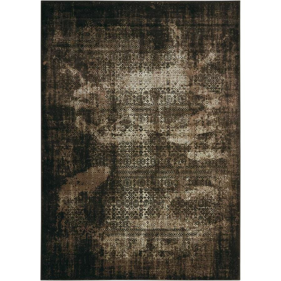 Nourison Karma Latte Indoor Area Rug (Common: 3 x 5; Actual: 3.75-ft W x 5.75-ft L)