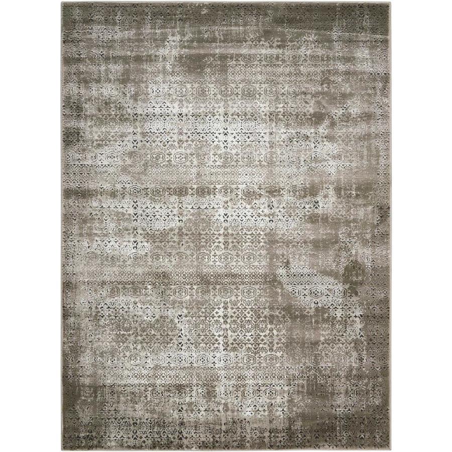 Nourison Karma Ash Rectangular Indoor Area Rug (Common: 9 x 13; Actual: 9.25-ft W x 12.75-ft L x 0.25-ft dia)