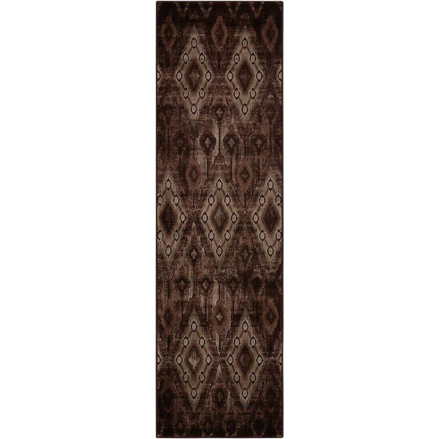 Nourison Karma Chocolate Rectangular Indoor Area Rug (Common: 2 x 7; Actual: 2.17-ft W x 7.5-ft L x 0.25-ft dia)