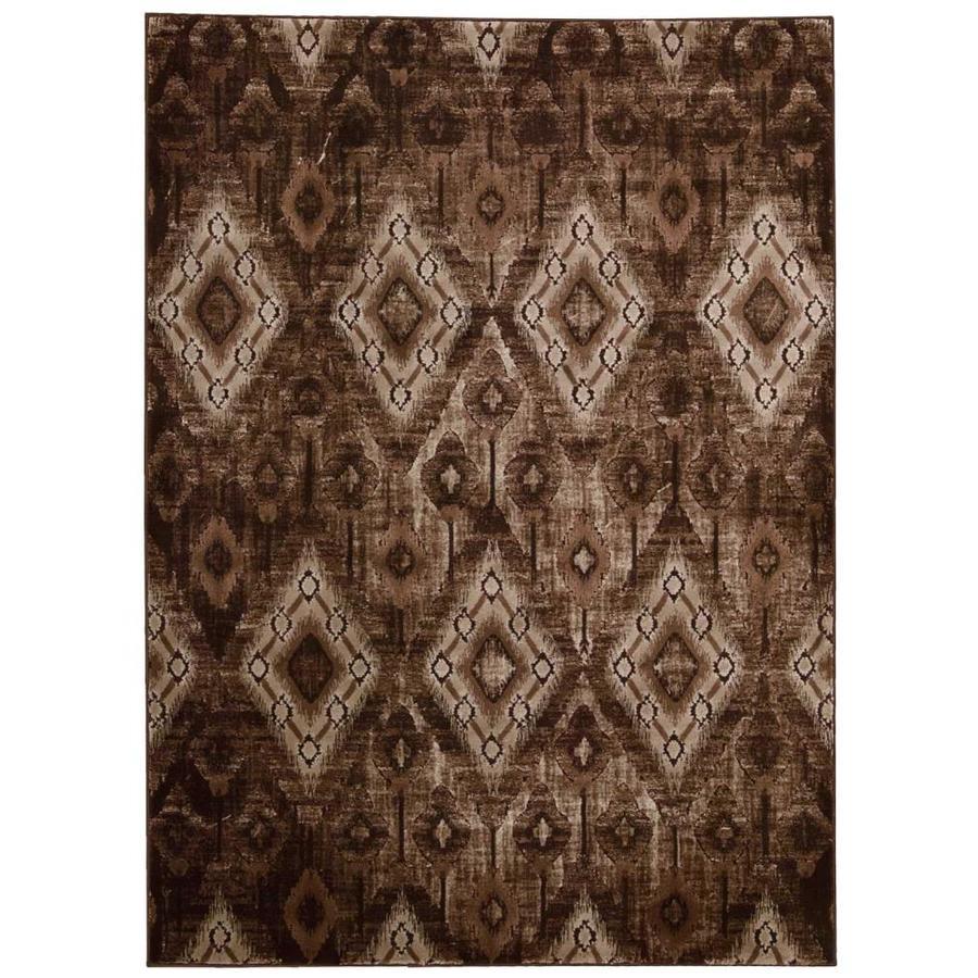 Nourison Karma Chocolate Indoor Area Rug (Common: 8 x 10; Actual: 7.8333-ft W x 10.5-ft L)