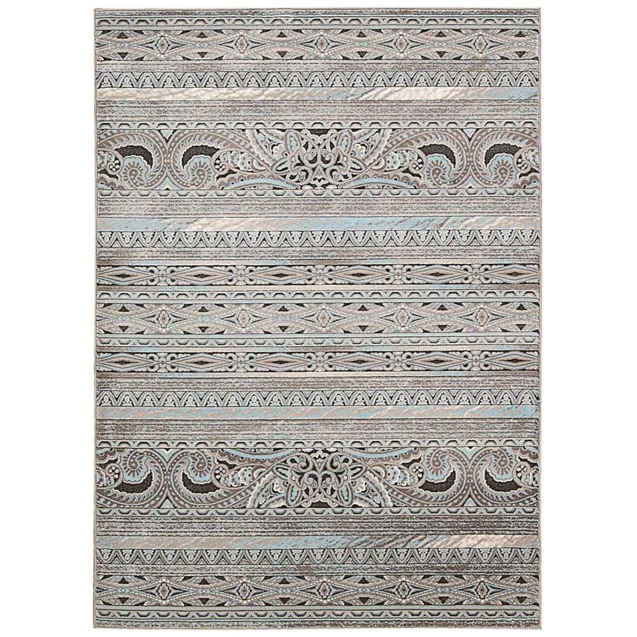 Nourison Karma Stone Indoor Area Rug (Common: 9 x 13; Actual: 9.25-ft W x 12.75-ft L x 0.25-ft dia)