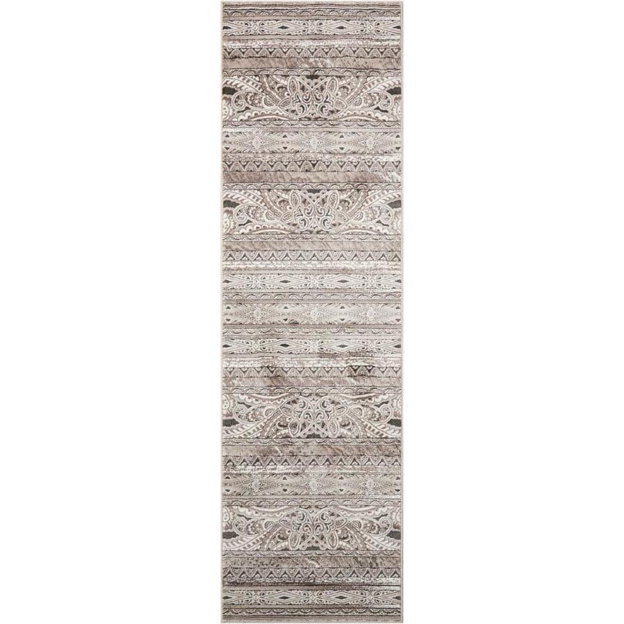 Nourison Karma Beige Indoor Area Rug (Common: 2 x 7; Actual: 2.1667-ft W x 7.5-ft L)