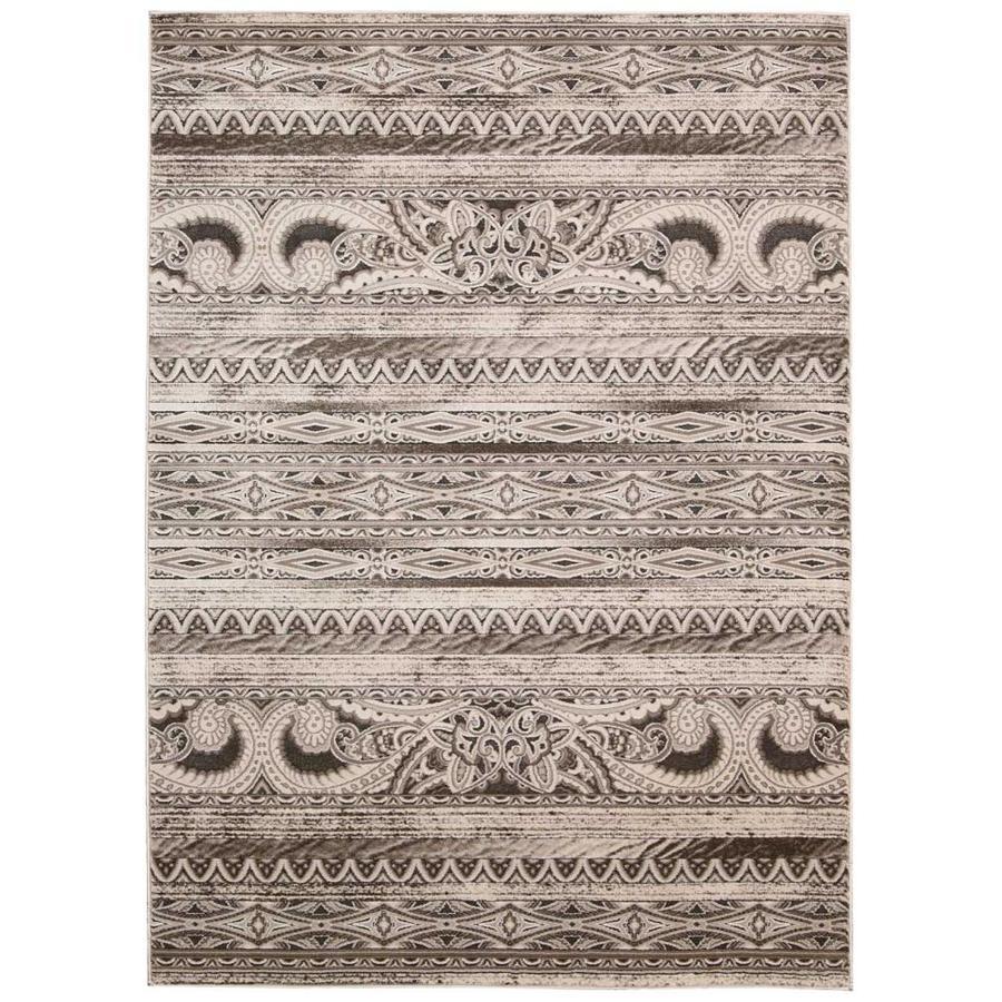 Nourison Karma Beige Indoor Area Rug (Common: 3 x 5; Actual: 3.75-ft W x 5.75-ft L)