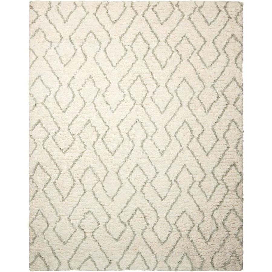 Nourison Galway Ivory/Sage Handcrafted Area Rug (Common: 8 x 10; Actual: 7.5-ft W x 9.5-ft L)
