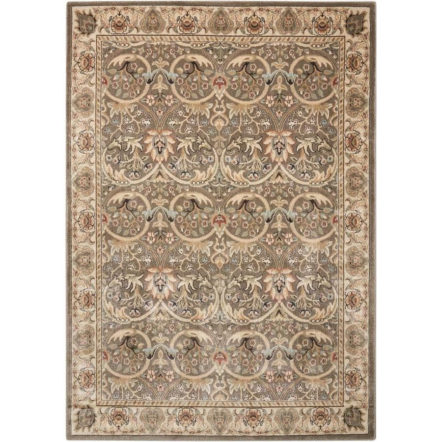 Nourison Walden Gray Area Rug (Common: 3 x 5; Actual: 3.75-ft W x 5.75-ft L)