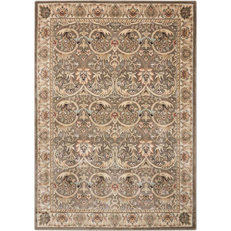 nourison walden gray indoor area rug common 5 x 7 actual w x l at. Black Bedroom Furniture Sets. Home Design Ideas