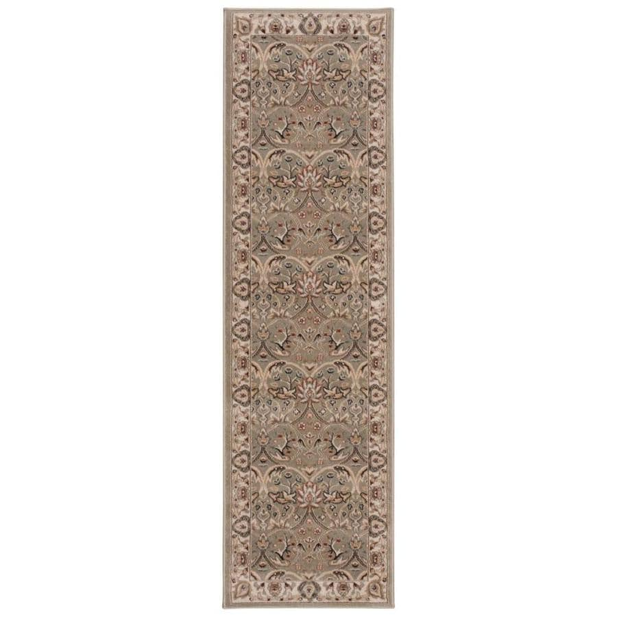 Nourison WALDEN Light Green  Indoor  Traditional Area Rug (Common: 2 x 8; Actual: 2-ft W x 7-ft L)