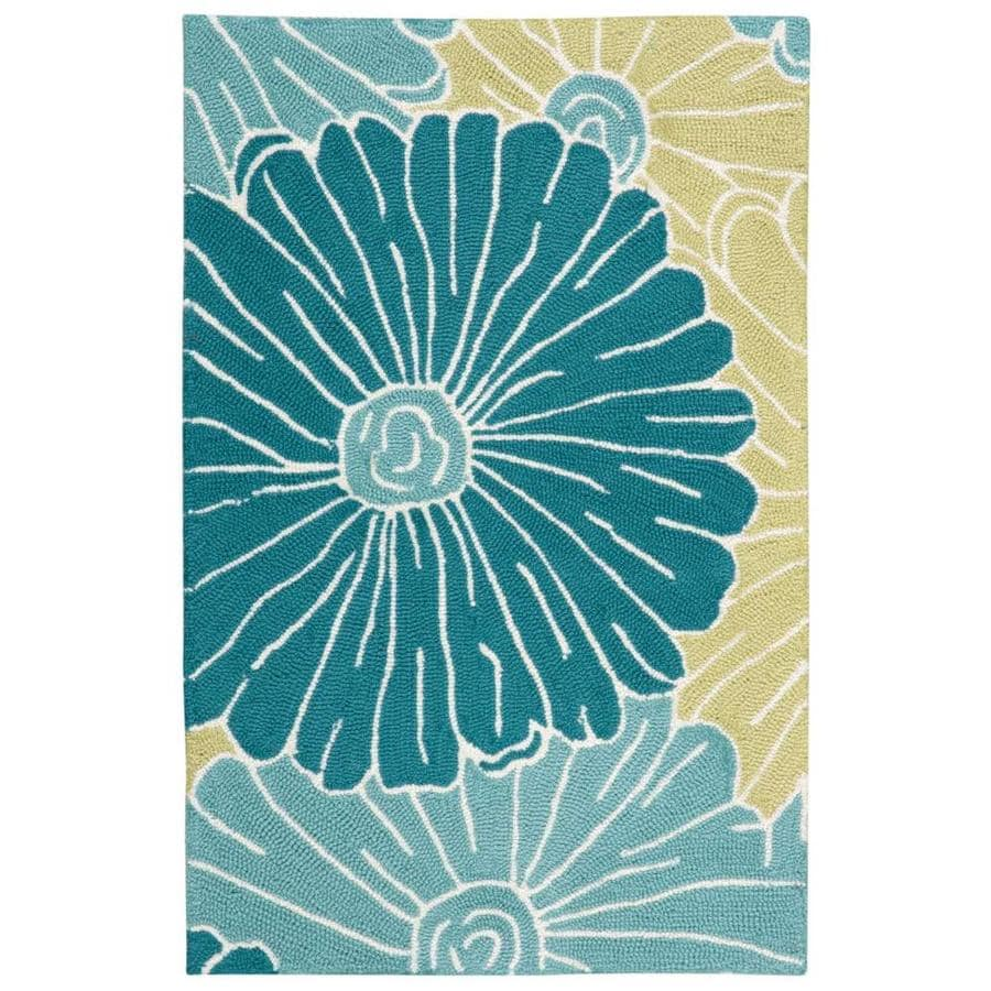 Nourison Fantasy Seafoam Indoor Handcrafted Area Rug (Common: 2 x 3; Actual: 1.75-ft W x 2.75-ft L)