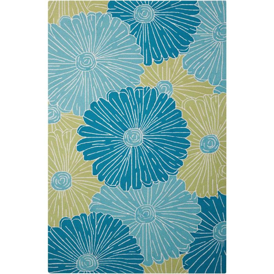 Nourison FANTASY Seafoam  Indoor Handcrafted Nature Area Rug (Common: 5 x 8; Actual: 5-ft W x 7-ft L)