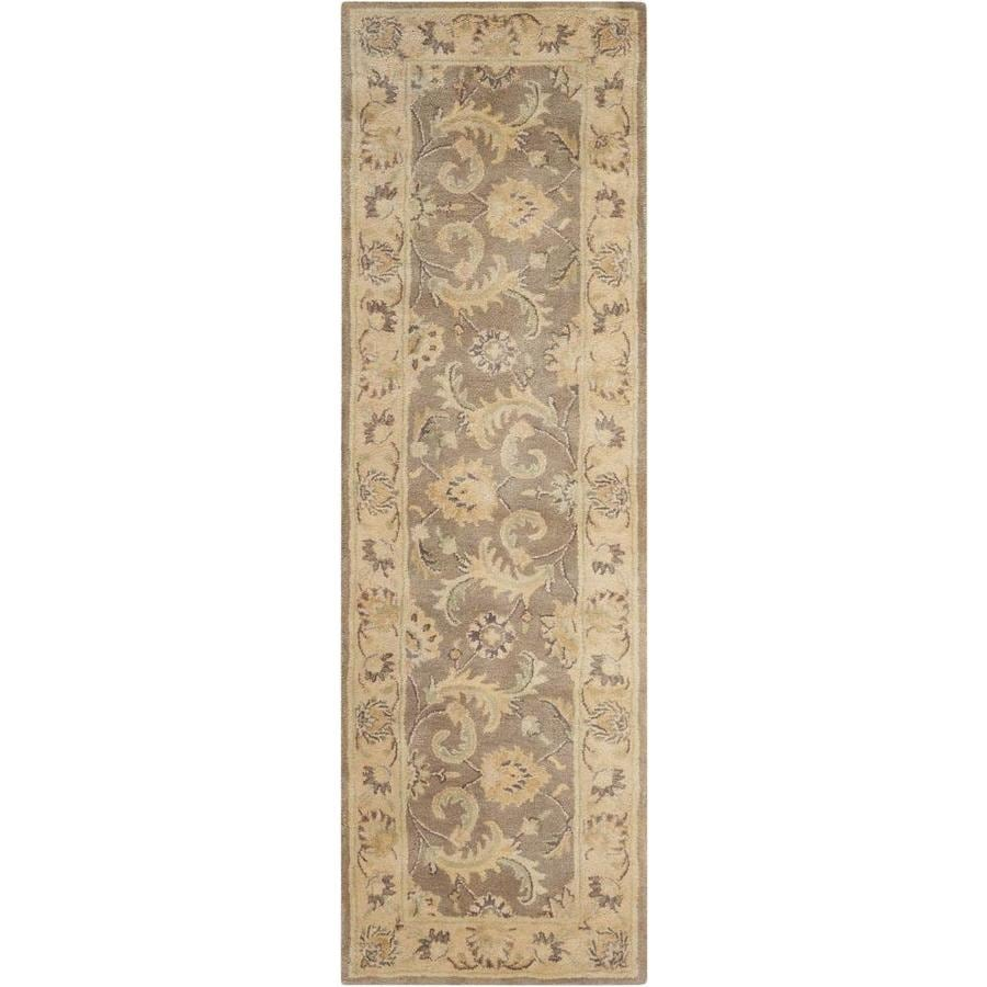 Nourison Jaipur Taupe Rectangular Indoor Handcrafted Area Rug (Common: 2 x 8; Actual: 2.33-ft W x 8-ft L x 0.75-ft dia)