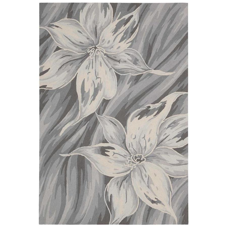 Nourison Fantasy Grey Handcrafted Area Rug (Common: 2 x 3; Actual: 1.75-ft W x 2.75-ft L)