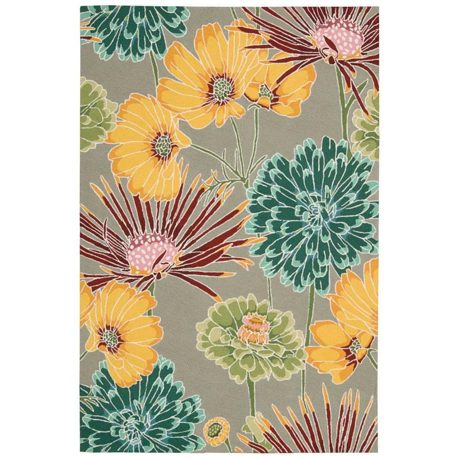 Nourison Fantasy Gray Indoor Handcrafted Area Rug (Common: 3 x 5; Actual: 3.5-ft W x 5.5-ft L)