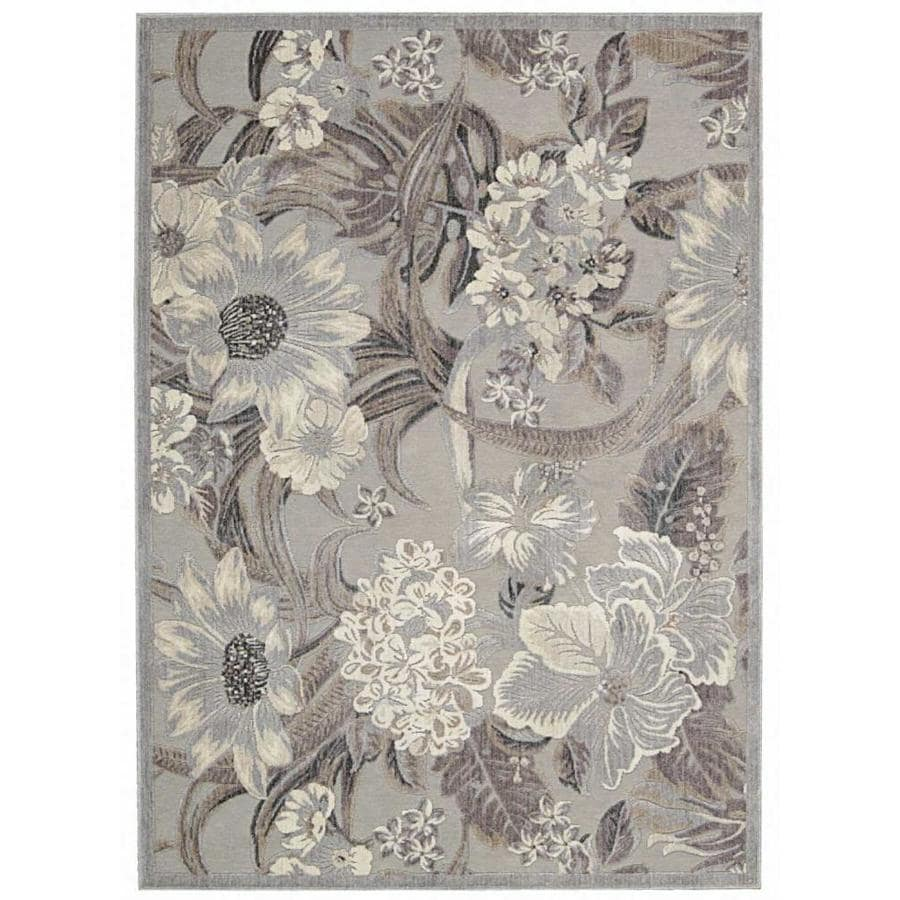 Nourison Graphic Illusions Gray Indoor Area Rug Common 8