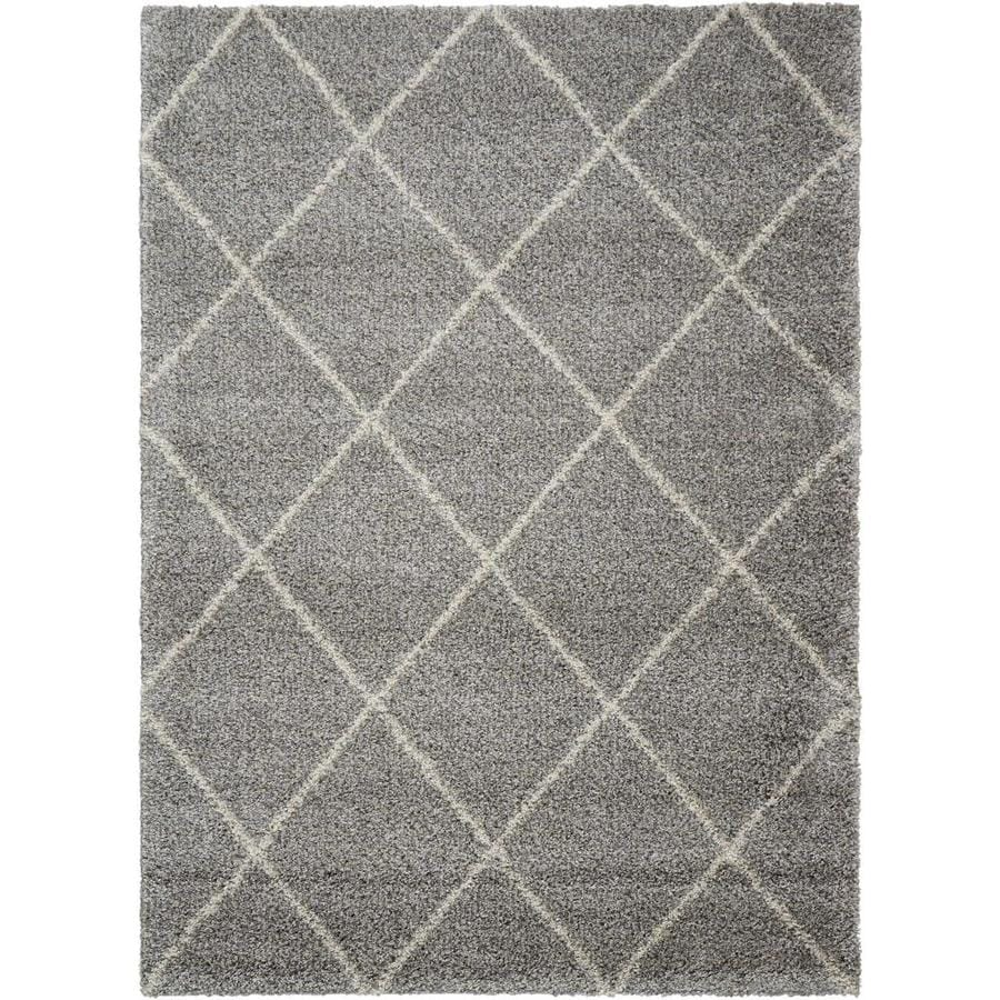 Persian Rug Brisbane: Shop Nourison Brisbane Ash Rectangular Indoor Area Rug