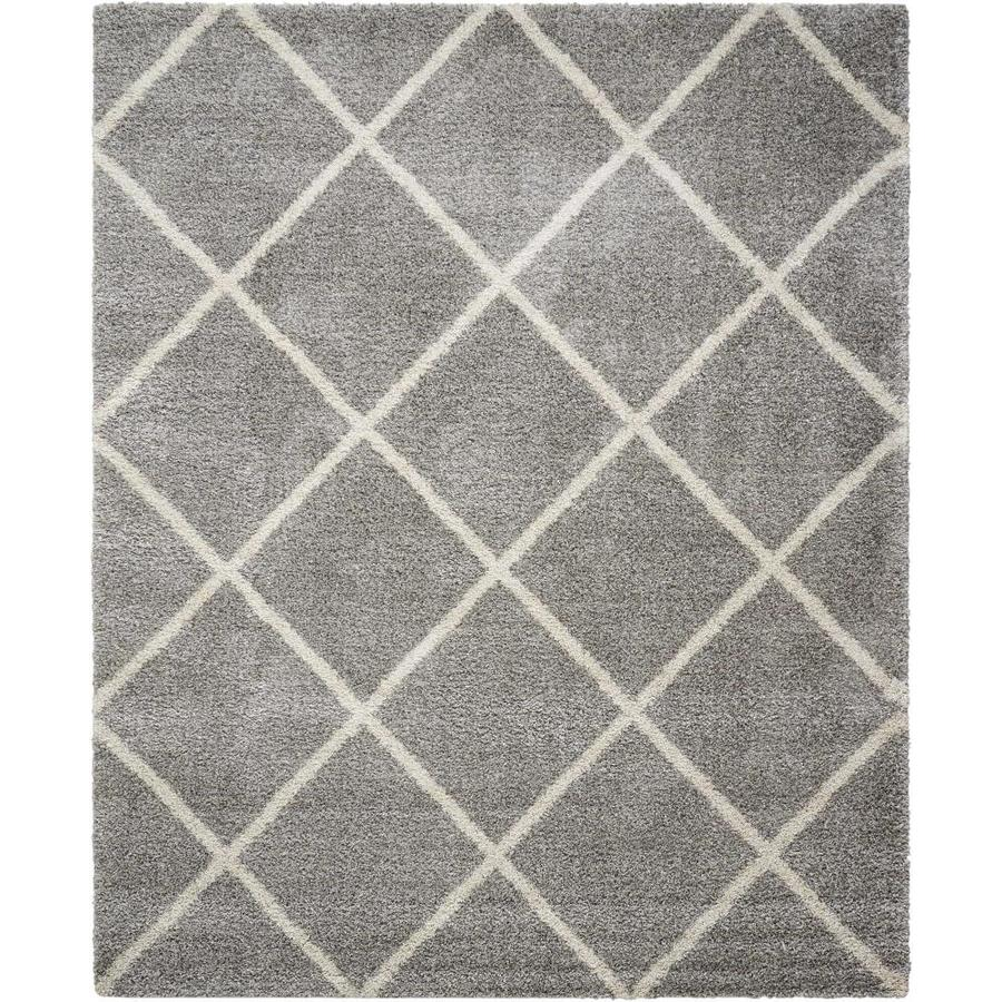 Shop Nourison Brisbane Ash Indoor Area Rug Common 8 X 11