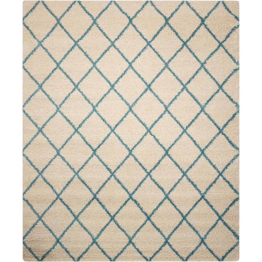 Persian Rug Brisbane: Shop Nourison Brisbane Ivory/Aqua Indoor Area Rug (Common