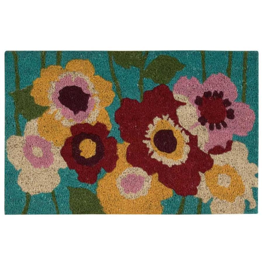 Nourison Blue Rectangular Door Mat (Common: 2-ft x 3-ft; Actual: 18-in x 28-in)