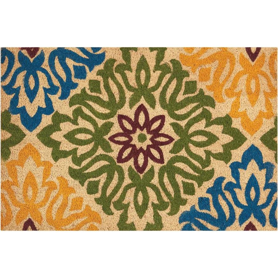 Nourison Green Rectangular Door Mat