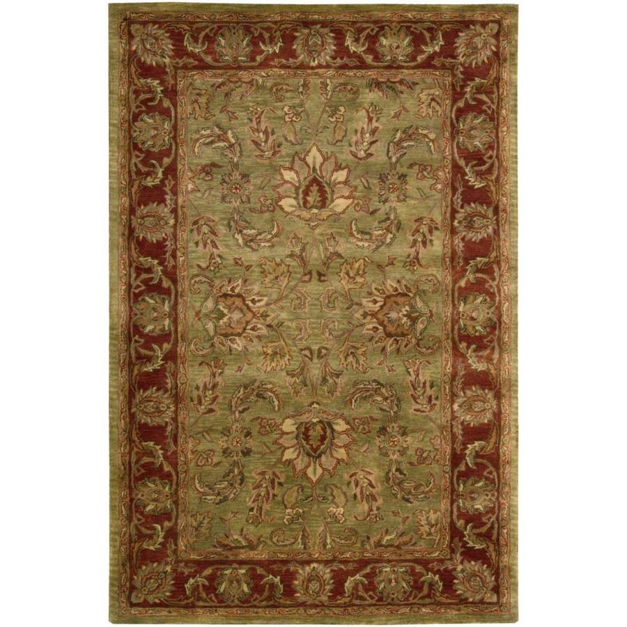 Nourison Jaipur Olive Rectangular Indoor Handcrafted Area Rug (Common: 3 x 5; Actual: 3.75-ft W x 5.75-ft L x 0.75-ft dia)