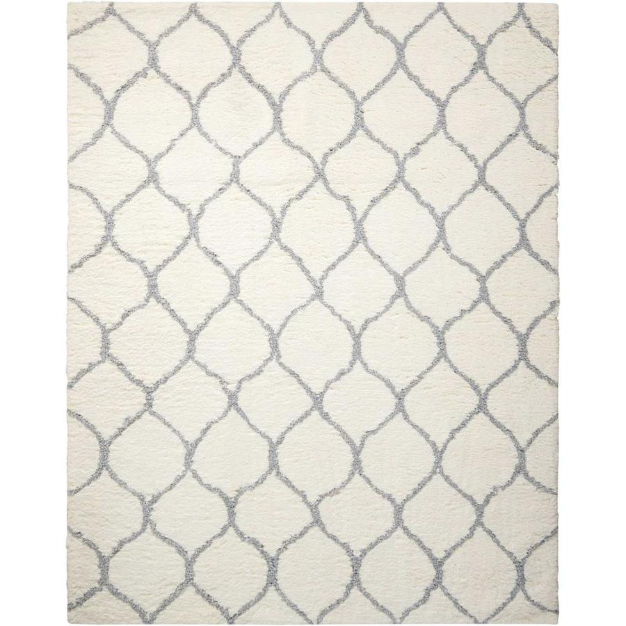 Nourison Galway Ivory/Ash Indoor Handcrafted Area Rug (Common: 5 x 8; Actual: 5-ft W x 7-ft L x 1.5-ft dia)