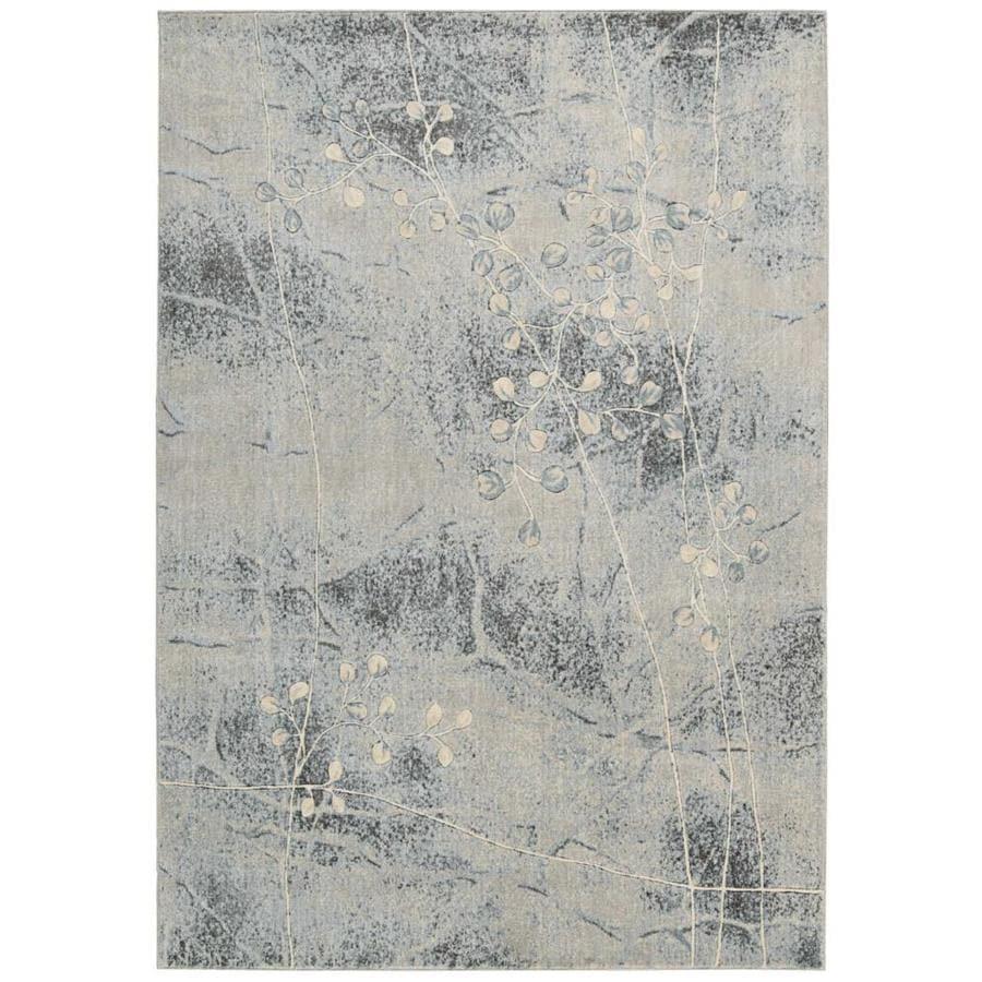 Nourison Somerset Gray/Blue Rectangular Indoor Area Rug (Common: 2 x 3; Actual: 2-ft W x 2.75-ft L x 0.5-ft dia)