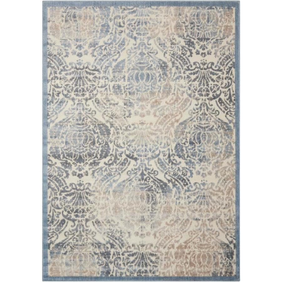 Black Graphic Woven Emerson Indoor Outdoor Area Rug: Nourison Graphic Illusions SKY Indoor Area Rug (Common: 3