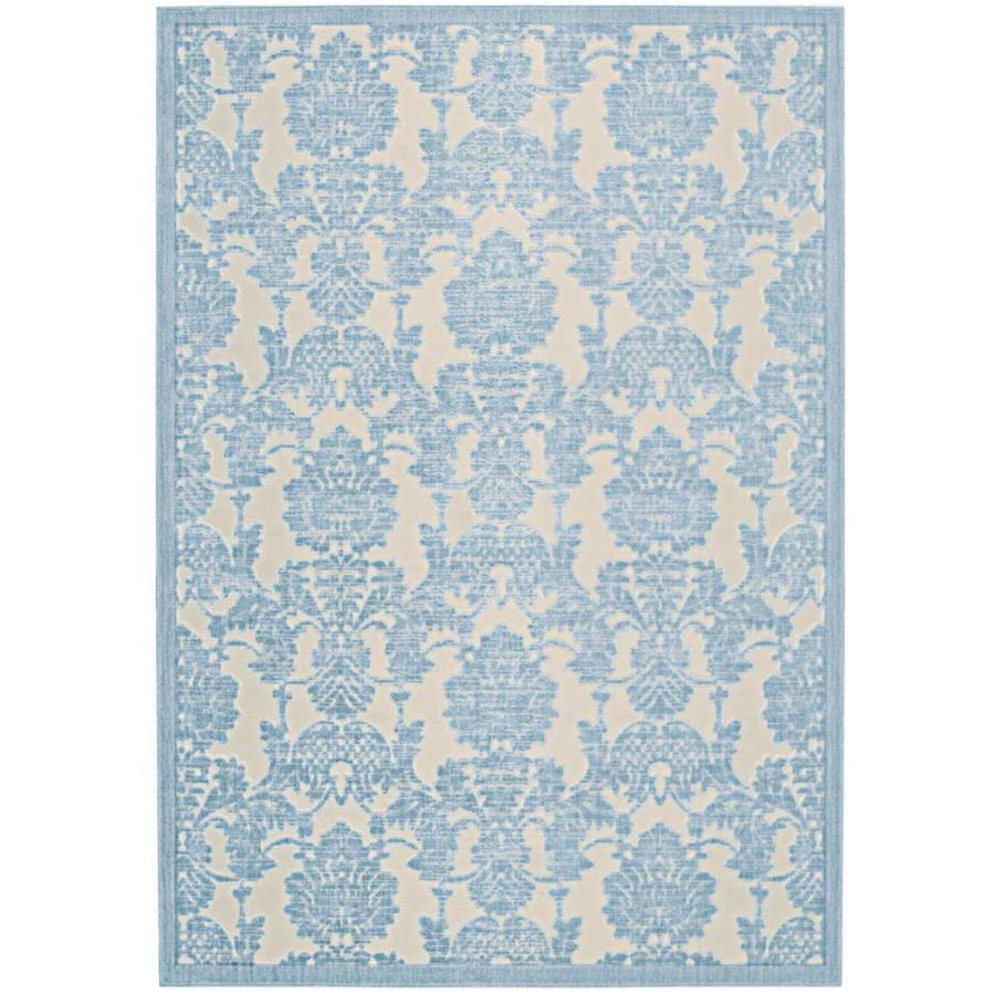 Nourison Graphic Illusions Iv/Ltb Rectangular Indoor Area Rug (Common: 2 x 4; Actual: 2.25-ft W x 3.75-ft L x 0.5-ft dia)